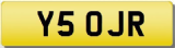 JR 5 OJR 50 FIFTY INITIALS Private CHERISHED Registration Number Plate